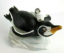 "Franklin Mint Penguin Porcelain Figurine ""Whee!"" 1987"