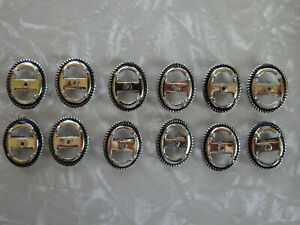 Bolo slide rhodium silver plated 13x18mm vertical twist bezel 1430 (pkg 12)