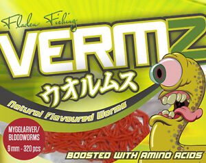 320PC 9MM VERMZ FAKE RED BLOODWORM FISHING IMITATION BAIT ARTIFICIAL SCENTED