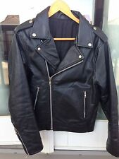 Leather Motorcycle Double Rider Perfecto Jacket size 36