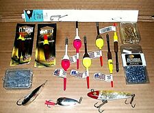 Assortment of New/Vintage Fishing Tackle 15+ Items Floats, Sinkers, Lures, Hooks