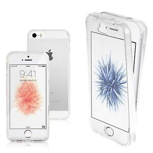 360  Front + Back shockproof TPU  Clear Gel Case Cover For iPhone all Model