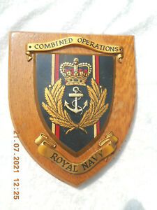 ROYAL NAVY   COMBINED OPERATIONS   WALL PLAQUE/ CREST / SHIELD