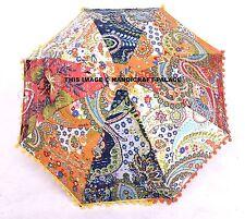 Indian Umbrella Parasol Embroidered Kantha Work Home Decor Sun Shade Decorative