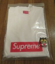 Supreme Cat L/S Long Sleeve Pocket Tee T-Shirt Size Large White FW19 FW19KN77