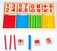 Wooden Math Puzzle Educational Kids Toy Learning Toys Baby Early Preschool Game