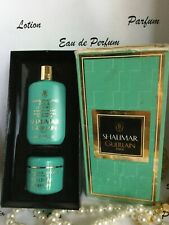 vintage GUERLAIN SHALIMAR mini set , body shampoo, body cream   (86)