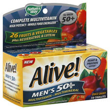 Alive! Nature's Way Once Daily Men's 50  High Potency Multivitamin 50 Pills