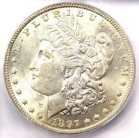 1897-O Morgan Silver Dollar $1 - ICG MS60 (Rare in UNC BU) - $1,130 Guide Value!