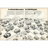 1973 Volkswagen: Rational Alternative Rationing Gas Vintage Print Ad