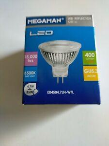 10 x Megaman LED MR16 LED REFLECTOR  6500K DAY LIGHT GU5.3 A+ energy rating BNIB