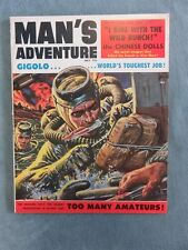 MAN'S ADVENTURE Men's Pulp/Adventure Magazine May 1958