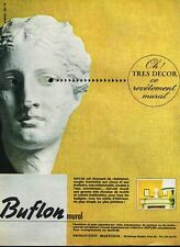 E- Publicité Advertising 1965 Le Revetement mural Buflon