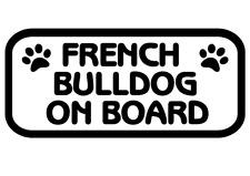 French Bulldog On Board Car, Van sticker, decal paw print