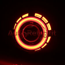 Red/Red Dual Angel Eye Shroud, for 2.5'' Projectors Only! Dual LED COB Halo Ring