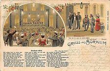 Postcard Judaica Germany Gruss Aus Borkum
