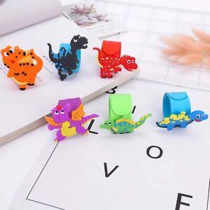Cartoon Dinosaur Shape Soft Rubber Ring Pop Ring Bracelet Children's Toy Gift T
