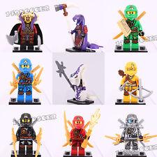 9pcs Ninjago Super Hero Pythor Skylor Cole Jay Kai Zane Lego Minifigures