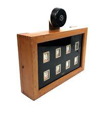 Antique Gents Butlers / Servants Call Bell Board / Wooden Light Oak / Edwardian