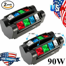 2PCS 120W RGBW 8LED Spider Stage Lighting Moving Head DJ Bar Party Lights US