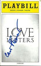 Carol Burnett signed Love Letters Playbill