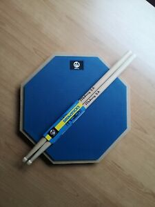 "12"" Drum practice pad with Maple sticks (Blue)"