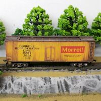 HO Scale Custom Painted Weathered Train Freight Box Car Refrigerator Line Morrel