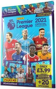 PANINI PREMIER LEAGUE FOOTBALL SOCCER STICKER ALBUM BOOK WITH 20 STICKERS NEW