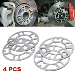 4 x 5mm Universal Alloy Wheel Spacers Shims Spacer 4 And 5 Stud Fit UK