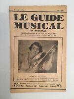 Le Guide du Musical supplément mensuel au Guide du concert Renée de Saussine1929