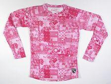 Dakine CREW Womens Mid-Weight Base Layer Top Medium Pink Print NEW