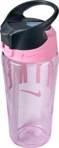 Nike TR Hypercharge Straw Bottle - Sports Water Bottle - Pink/Grey/White - 16oz