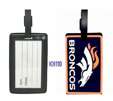 NFL Denver Broncos Soft Luggage Bag Tags /Gym bag / Golf bag