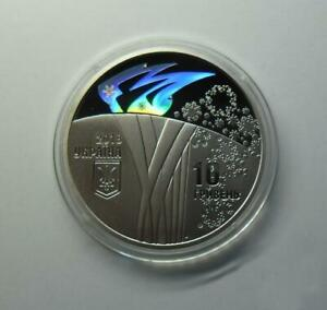 XXIII OLYMPIC WINTER GAMES 2018 Pyeongchang 10 UAH Proof Silver 1Oz Coin, Sport