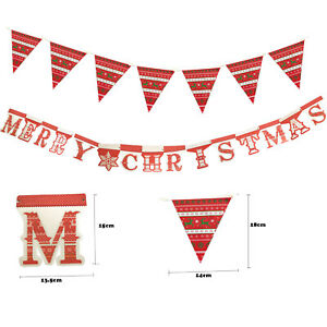 Merry Christmas Garland Banner & Bunting  Xmas Party Decoration Flag