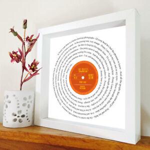 The Beatles - Penny Lane - Vinyl Record framed print - Song Lyric Art - Any song