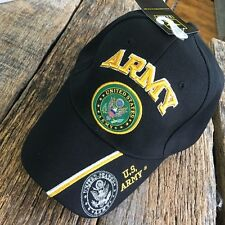 BLACK US ARMY NEW LICENESED Embroidered Ball Cap Baseball Cap Hat U.S. ARMY-TH