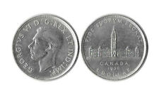 1939 Canada Silver Dollar 1$ Coin George VI Royal Visit KM#38