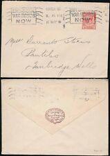 GB 1918 ENVELOPE CROSSE + BLACKWELL...C + B SOHO PERFIN