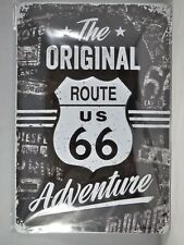 ROUTE 66 The Original Adventure - Retro Metal Sign Nostalgic Art - A4 size