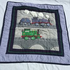 """Thomas & Friends Euro Pillow Sham Pottery Barn Kids 26"""" x 26"""" Quilted"""