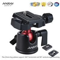 Mini Ball Head Ballhead Tabletop Tripod Stand Adapter +Quick Release Plate W8Q2