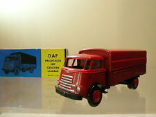 LION CAR No.23 DAF1100 6 STREPER FRONTSTUUR TRUCK COLOUR RED + BOX SCALE 1:50