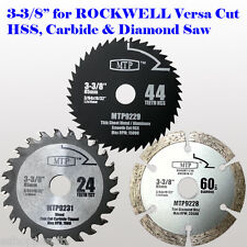 3x 3-3/8-inch Metal Wood Tile Saw Blade for ROCKWELL VersaCut RK3440K 15mm hole