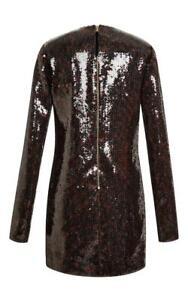 $3500 NWT Marc Jacobs Leopard Sequin Long Sleeve Dress 6