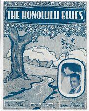 1916 Antique Hawaiian Sheet Music The Honolulu Blues Clarke & Monaco