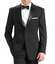 Men's Tuxedo with Flat Front Pants. 44L Jacket & 38 Pants. Formal, Wedding, Prom