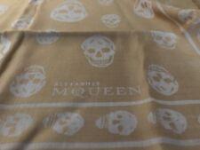 Alexander Mcqueen Skull Scarf Yellow White Headscarf Pashmina
