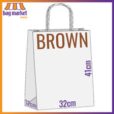 More details for strong brown twisted handle paper bags | kraft/carrier/twist/gift/fashion/party
