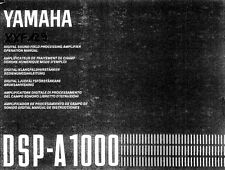 Yamaha DSP-A1000 Amplifier Owners Manual